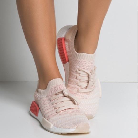 882546b57fece Adidas Pink NMD R1 STLT Primeknit Sneakers